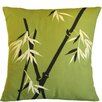 Sustainable Threads Bamboo Rayon Wilderness on Moss Cotton Throw Pillow