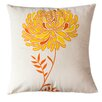 Sustainable Threads Solar Dahlia Cotton Throw Pillow