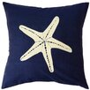 Sustainable Threads Jersey Coastline Starfish Cotton Throw Pillow
