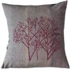 Sustainable Threads Magenta Woods on Graphite Cotton Throw Pillow