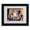 "Trademark Fine Art ""Composition on a Table 1916"" by Juan Gris Matted Framed Painting Print"