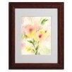 "Trademark Fine Art ""Two Garden Flowers"" by Sheila Golden Matted Framed Painting Print"