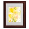 "Trademark Fine Art ""Butterfly Silhouette"" by Sheila Golden Framed Painting Print"