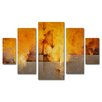 "Trademark Fine Art ""Lost Passage"" by Cody Hooper 5 Piece Painting Print Set"