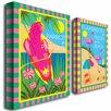 "Trademark Fine Art ""Tropical Beach"" by Grace Riley 2 Piece Graphic Art on Canvas Set"