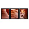 Trademark Fine Art Antelope Panorama II by Moises Levy 3 Piece Framed Photographic Print Set