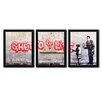 Trademark Fine Art Ghetto for Life by Banksy 3 Piece Framed Graphic Art Set