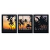 Trademark Fine Art Palm Dream by David Evans 3 Piece Framed Photographic Print Set