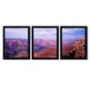 Trademark Fine Art Apostles from the Beach by David Evans 3 Piece Framed Photographic Print Set