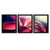 Trademark Fine Art Lady in Red by Beata Czyzowska-Young 3 Piece Framed Photographic Print Set