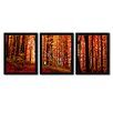Trademark Fine Art The Red Way by Philippe Sainte-Laudy 3 Piece Framed Photographic Print Set