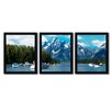 Trademark Fine Art Instant Blue by Philippe Sainte-Laudy 3 Piece Framed Photographic Print Set