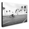 Trademark Fine Art 'Florida Beach Biker' by Preston Photographic Print on Wrapped Canvas