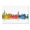 Trademark Fine Art Chicago Illinois Skyline III by Marlene Watson Graphic Art on Wrapped Canvas