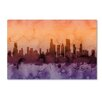 "Trademark Fine Art ""Chicago Illinois Skyline III"" by Michael Tompsett Graphic Art on Wrapped Canvas"