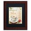 """Trademark Fine Art """"Cafe in Europe IV"""" by Lisa Audit Framed Vintage Advertisement"""