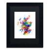 """Trademark Fine Art """"Scotland Paint Splashes"""" by Michael Tompsett Framed Graphic Art"""