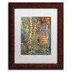 """Trademark Fine Art """"Into The Dark"""" by Pat Saunders-White Framed Painting Print"""