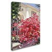 """Trademark Fine Art """"Pink Bougainvillea Mansion"""" by David Lloyd Glover Painting Print on Wrapped Canvas"""