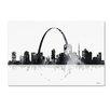"Trademark Fine Art ""St Louis Missouri Skyline"" by Marlene Watson Graphic Art on Wrapped Canvas"