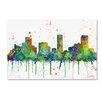 "Trademark Fine Art ""Denver Colorado Skyline Mclr-1"" by Marlene Watson Graphic Art on Wrapped Canvas"