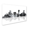"Trademark Fine Art ""Denver Colorado Skyline BG-1"" by Marlene Watson Graphic Art on Wrapped Canvas"