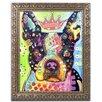 "Trademark Fine Art ""Boston Terrier Crowned"" by Dean Russo Ornate Framed Graphic Art"