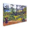 "Trademark Fine Art ""Ocean Lagoon Garden"" by David Lloyd Glover Painting Print on Wrapped Canvas"