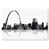 "Trademark Fine Art ""Gateway Arch St Louis MO Skyline BG-1"" by Marlene Watson Graphic Art on Wrapped Canvas"