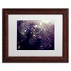 "Trademark Fine Art ""Purple Lullaby"" by Beata Czyzowska Young Matted Framed Photographic Print"