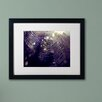"""Trademark Fine Art """"Purple Lullaby"""" by Beata Czyzowska Young Matted Framed Photographic Print"""
