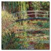 """Trademark Fine Art """"Waterlily Pond Pink Harmony;1900"""" by Claude Monet Painting Print on Wrapped Canvas"""