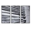 INK+IVY 'Over the Bridge Rabbet up' by Jules Woods 3 Piece Framed Photographic Print Set