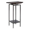 INK+IVY Slat Pedestal End Table