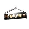 Entrada Metal Candle Holder with 5 Glass Hurricanes