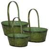 3 Piece Metal Hanging Planter Set - Entrada Planters