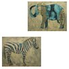Entrada 2 Piece Painting Print Plaque Set