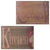 Entrada Kitchen Cocina 2 Piece Textual Art Plaque Set