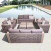 International Home Miami Atlantic Cameron 10 Piece Deep Seating Group with Cushions