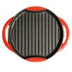 Chasseur Chasseur 10-inch Round French Enameled Cast Iron Grill Pan