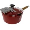 Chasseur Chasseur 2.5-quart French Enameled Cast Iron Saucepan With Wooden Handle