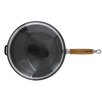 Chasseur Chasseur 11-inch Red French Enameled Cast Iron Fry pan with Wooden Handle and Glass Lid