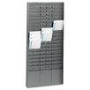 MMF Industries Steelmaster Steel Time Card Rack with Adjustable Dividers