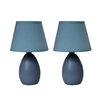 "All the Rages 9.45"" H Table Lamp with Empire Shade (Set of 2)"