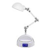"""All the Rages Bluetooth Adjustable Robot Speaker 24"""" H Table Lamp"""