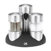 Kalorik Rechargeable 3 Piece Stainless Steel Salt & Pepper Grinder Set