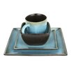 Kalorik Earthtone Square 16 Piece Dinnerware Set