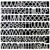 Mastervision White Plastic Set of Letters, Numbers & Symbols, Uppercase