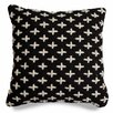 Blu Dot Mima Cross Stitch Wool Throw Pillow