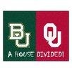 FANMATS NCAA House Divided: Baylor / Oklahoma House Divided Mat